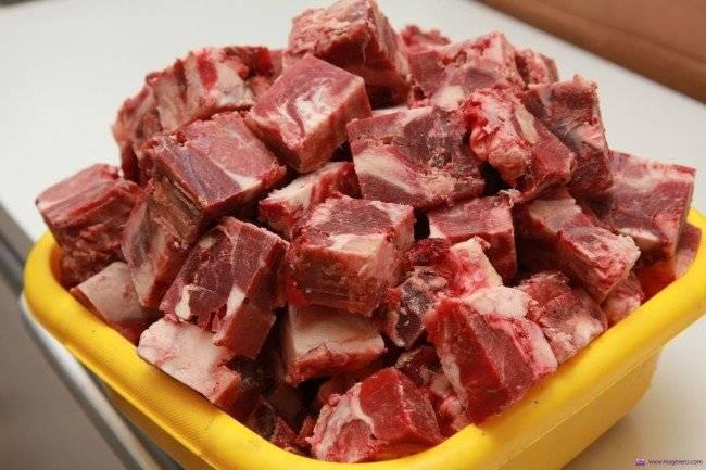 Мясо для немецкой овчарки