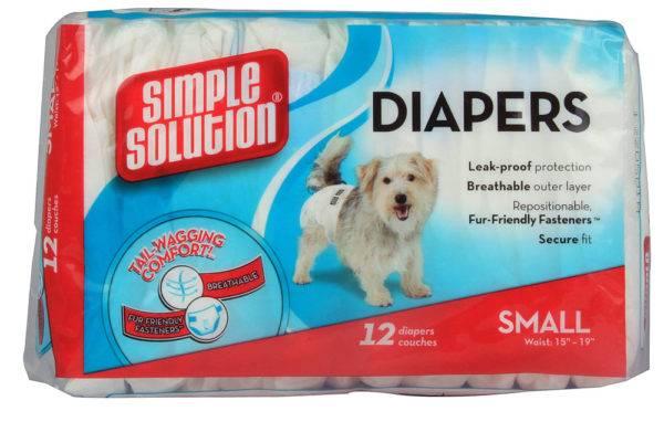 Размеры памперсов для собак