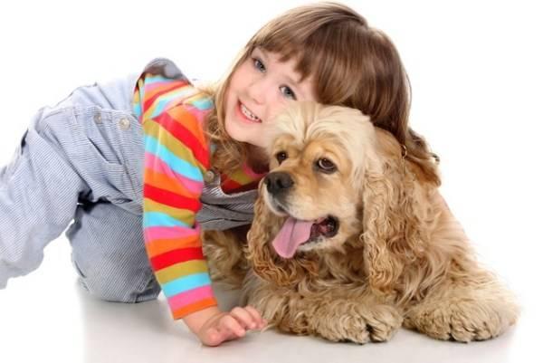ребенок и собачка