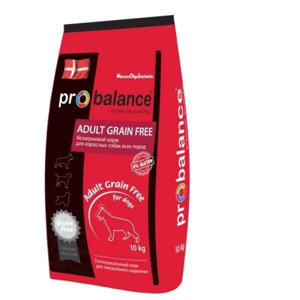 Корм Probalance (Пробаланс) для собак в красной упаковке